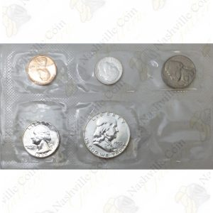 """1955 """"Flat Pack"""" 5-piece United States Proof Set"""