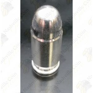 1 oz .999 fine silver bullet (maker and design may vary) - .45 ACP