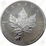 2017 Canada $5 1 oz Reverse Proof silver Maple Leaf w/Moose Privy