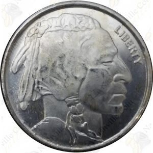 Highland Mint 1/4 oz .999 fine silver Buffalo rounds -- 4 piece lot