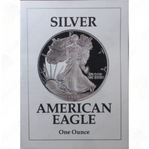 1991 Proof American Silver Eagle with box and COA