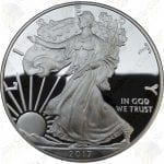 2017 Proof American Silver Eagle with box and COA