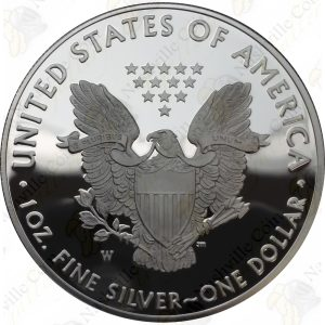 2018 Proof American Silver Eagle with box and COA