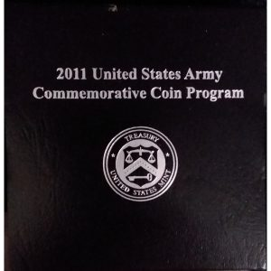 2011 United States Army Commemorative Proof Silver Dollar with box and COA