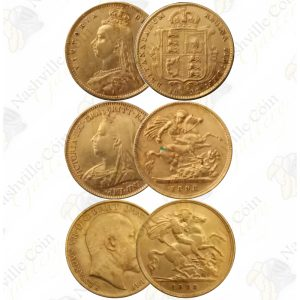 1/2 Sovereign -- random date and design -- .1177 oz pure gold