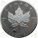 2017 Canada 1 oz .9999 fine silver Maple Leaf -- Panda privy