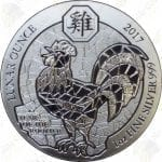 2017 Rwanda Lunar Ounce 1 oz .999 fine silver Year of the Rooster