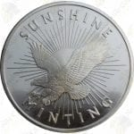 "Sunshine Mint ""Eagle"" 1 oz .999 fine silver round"