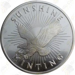 "Sunshine Mint ""Eagle"" 1 oz .999 fine silver round"