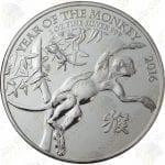2016 Great Britain 1 oz .999 fine silver Lunar Year of the Monkey