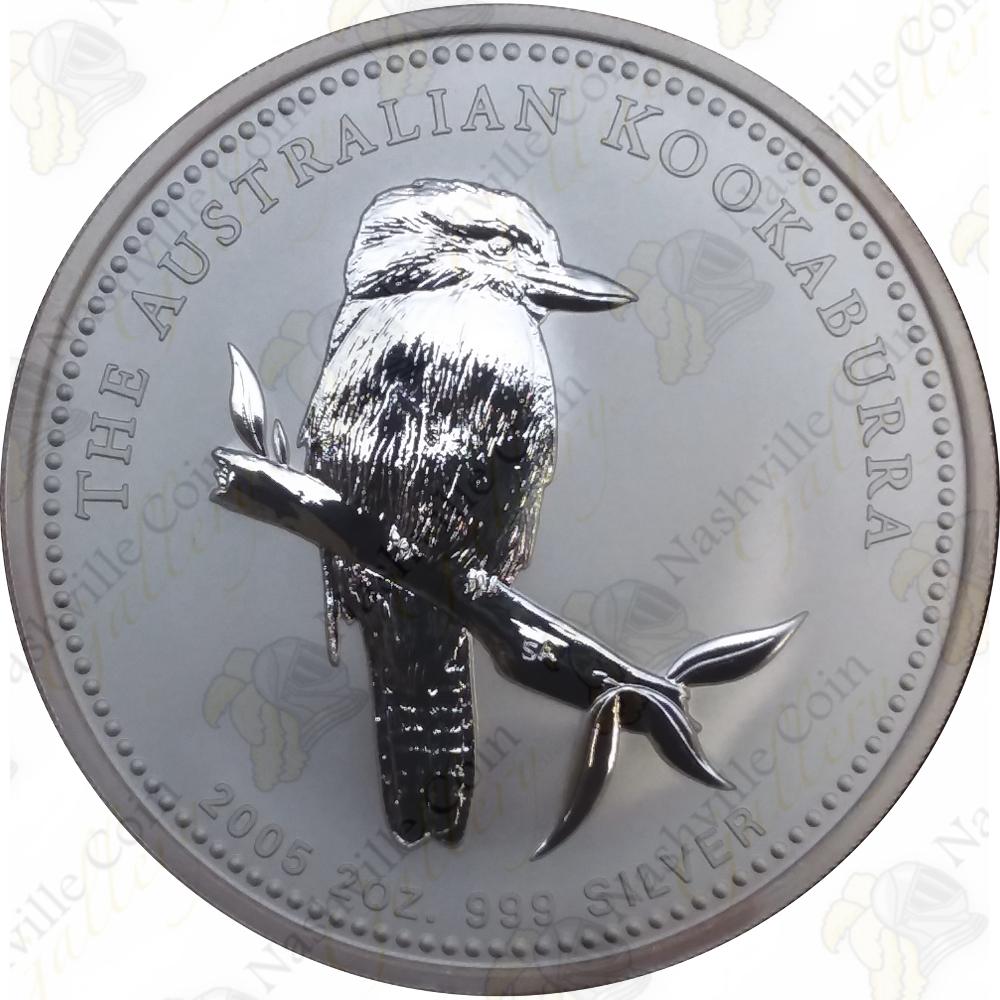 2005 Australian 2 oz .999 Silver Kookaburra!!