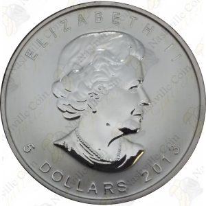 2013 Canada 25th Anniversary 1 oz .9999 fine silver Maple Leaf
