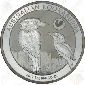 2017 Australia 1 oz .999 fine silver Kookaburra (Rooster privy)