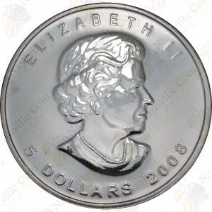 2008 Canada $5 1 oz silver Maple Leaf -- Uncirculated
