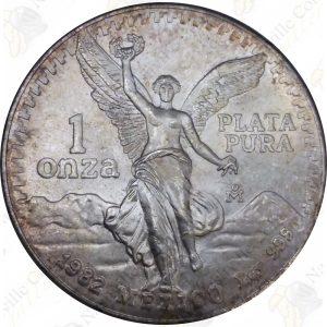 1982 Mexico 1 oz .999 fine silver Libertad