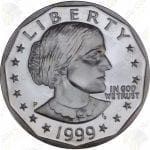 1999-P Proof Susan B. Anthony Dollar with Box and COA