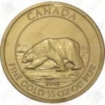 2013 Canada $10 1/4 oz .9999 fine gold Polar Bear