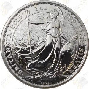 2015 Great Britain 1 oz Silver Britannia