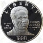 1998 Black Revolutionary War Patriots $1 Proof Silver Dollar