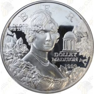 1999 Dolley Madison $1 Proof Silver Dollar