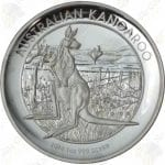 2014 Australia $1 High Relief 1 oz .999 fine Silver Kangaroo (Proof)