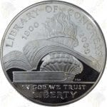 2000 Library of Congress $1 Proof Silver Dollar