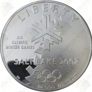 2002 Salt Lake City Olympic Winter Games $1 Proof Silver Dollar