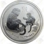 2016 Australia 50c 1/2 oz .999 fine silver Year of the Monkey