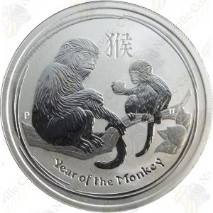 2016 Australia 50c 1/2 oz .999 fine silver Year of the Monkey