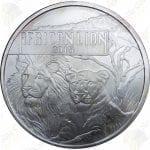 2015 Burundi 1 oz .999 fine silver African Lion