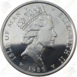 Isle of Man 1 oz .9995 Fine Platinum Noble