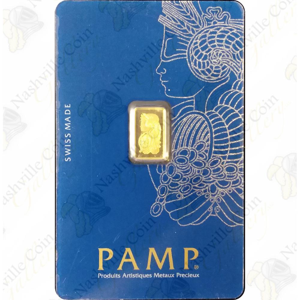 Sealed 1 Gram .9999 Fine Gold Bar PAMP Suisse Brilliant Uncirculated