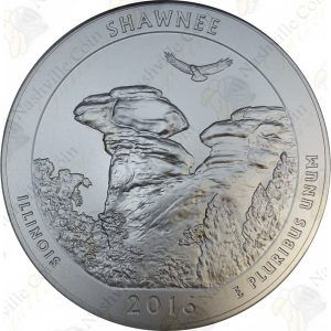2016-P America the Beautiful Shawnee National Forest 5 oz Silver (Specimen Finish)