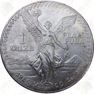 1986 Mexico 1 oz .999 fine silver Libertad