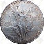 1987 Mexico 1 oz .999 fine silver Libertad