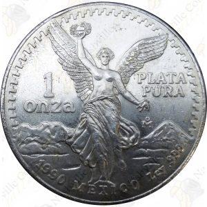 1990 Mexico 1 oz .999 fine silver Libertad