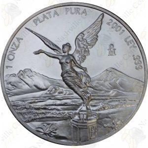 2001 Mexico 1 oz .999 fine silver Libertad