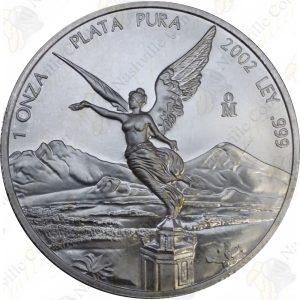 2002 Mexico 1 oz .999 fine silver Libertad