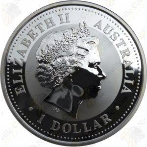 2006 Australia 1 oz .999 fine silver Lunar Year of the Dog