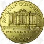 Austria 1/4 ounce gold Philharmonic -- .9999 fine gold