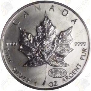 2000 Canada 1 oz .999 fine silver Maple Leaf with Millennium Privy
