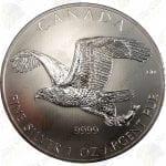 "2014 Canada ""Birds of Prey"" Series - 1 oz .9999 fine silver Bald Eagle"