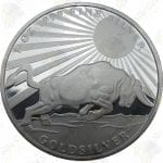 """1 oz """"Silver Bull"""" .999 fine silver round"""