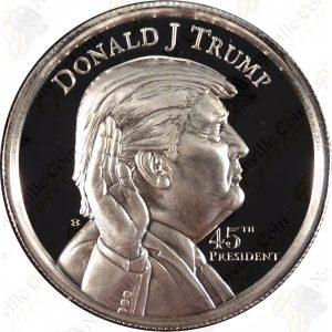 MAGA! DONALD TRUMP 2 oz .999 fine silver round -- SKU # 20122