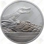 2019 Australia $2 2-oz Next Generation Series .9999 Fine Silver Crocodile