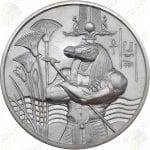 """Elemetal """"Egyptian Gods"""" Series 2 oz .999 fine silver round -- Sobek"""