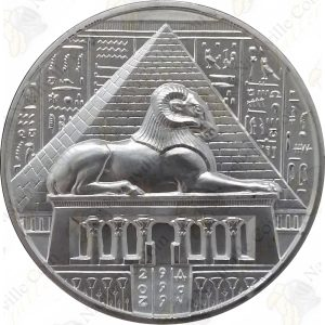 "Elemetal ""Egyptian Gods"" Series 2 oz .999 fine silver round -- Khnum"