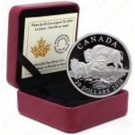 "2014 Canada Bison Series ""Family At Rest"" -- 1 oz .9999 fine silver (Proof)"