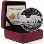 "2014 Canada Bison Series -- ""The Fight"" -- 1 oz .9999 fine silver"