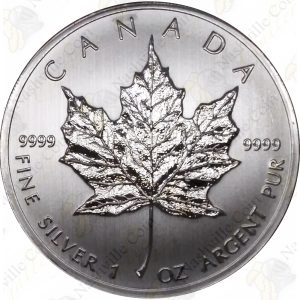2012 Canada $5 1 oz silver Maple Leaf -- Uncirculated